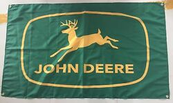 JOHN DEERE BANNER FLAG SIGN - GREEN & YELLOW - 3 ft X 5 ft