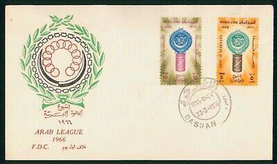 Mayfairstamps Iraq 1966 Arab League Basrah First Day Cover wwp2087