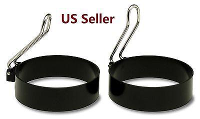 Egg Mold - 2 PCS Nonstick Stainless Steel Handle Round Egg Rings Shaper Pancakes Molds Ring