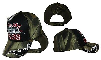 Redneck Hillbilly Kiss My Bass Camo Camouflage fish fishing cap #2 CAP920 Hat  - Redneck Hats