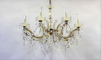 Maria Theresia Decken-Kristall- Kron-Leuchter 8-flammig - Lampe