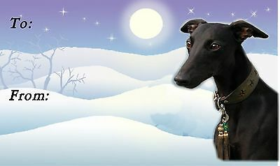 Whippet Christmas Labels by Starprint - No 2