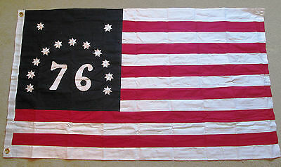 SEWN COTTON. 1776 American Revolution Flag. Bennington Flag of Vermont, 76 Flag