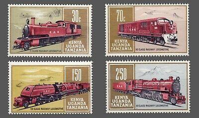 Kenya-Uganda-Tanganyika #229-232 MLH  Complete set Locomotives & Trains***  1971