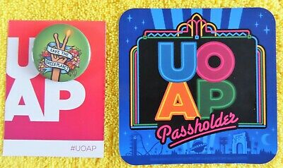 SOLD OUT UNIVERSAL ORLANDO PASSHOLDER MAY PIN BUTTON UOAP A TOTALLY RAD BIRTHDAY