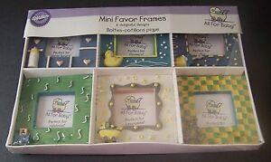 Wilton 6 mini favor picture frames baby shower gift favors photo ebay - Wilton baby shower favors ...