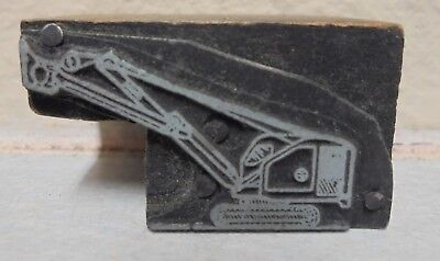 Vintage Printing Letterpress Printers Block Cut Heavy Equipment