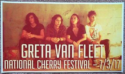 GRETA VAN FLEET 2017 Gig POSTER Traverse City Michigan Concert National Cherry