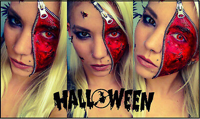 Zipper Face Scary Kit Zip Bloody Scar Special Effects FX Makeup Horror Halloween](Scary Halloween Zip Face)