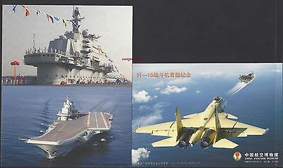 CHINA  2013 Commemoration Trial Voyage of 1st Aircraft Carrier PLA Navy Postcard