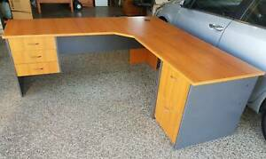 Office desk and Cupboard Sandstone Point Caboolture Area Preview
