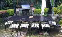 Outdoor setting wrought iron 10 chairs Northwood Lane Cove Area Preview