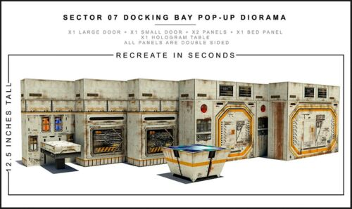 """Extreme-Sets Sector 07 Docking Bay Diorama 1/12 Scale for 6""""-7"""" Action Figures"""