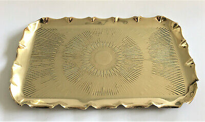 Vintage Small Brass Tray with Crimped Edge, (Keys, Coins, Etc….)