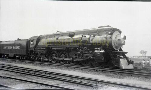 SP Southern Pacific 4-8-4 Steam Locomotive #4440 - Vintage Railroad Negative