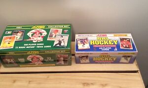 BOXED , SEALED  - BASEBALL AND HOCKEY CARDS ($10 for 2)