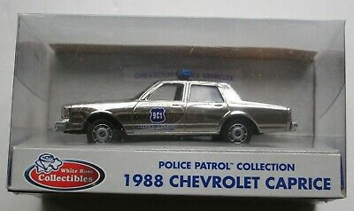 WHITE ROSE 1:43 SCALE DIECAST CHEVROLET POLICE 9C1 CHROME PLATED POLICE CAR -