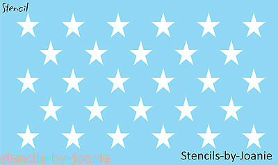 Patriotic STENCIL (28) 1.75 inch STARS Proud American Flag Country Art Signs
