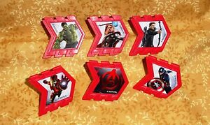 Avengers,Cupcake Party Rings,Toppers,DecoPac,Multi-Color,Plastic,Reassemble,12