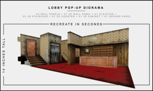 """Extreme Sets Lobby/Reception Pop-Up Diorama 1/12 Scale for 6""""-7"""" Action Figures"""