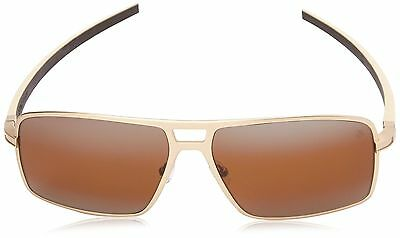 Tag Heuer Senna Racing 987 203 Square Sunglasses Ivory Brown New Free Shipping