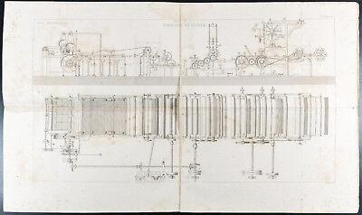 1852 - Grabado arts mecánicos : Fabricante de papel. Science, impresa segunda mano  Embacar hacia Argentina