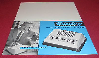 prospekt blatt alt dialog transistor sprechanlage  büro reklame werbung 1963
