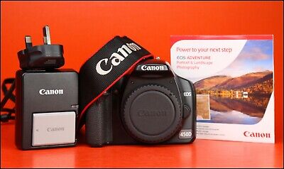 Canon EOS 450D DSLR Camera Body Only with Canon LP-E5 Battery & Canon Charger