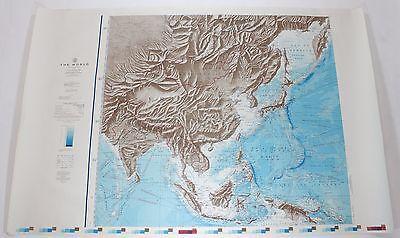 The World China 1961 Vintage Original US Navy Hydrographic Map