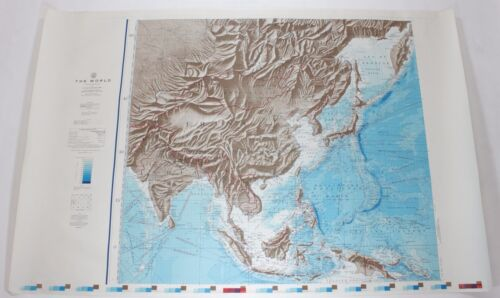 The World China 1961 Vintage Original US Navy Hydrographic Map
