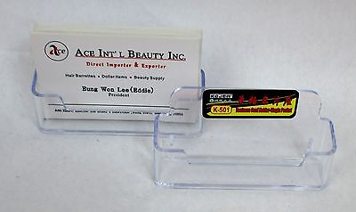Lot Of 2--new Clear Single Business Card Holder Desk Display