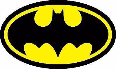 Diecut Vinyl BATMAN LOGO Decal Sticker Comic Dark Knight Colored (1 Vinyl Decal Sticker)
