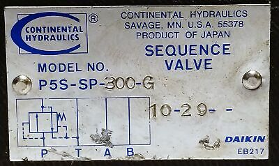 Continental Hydraulics  P5S-SP-300-G Sequencing Valve