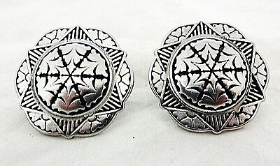 """Pair Jeremiah Watt Old Time Slotted Conchos Bridle 1 3//4/"""" Horse Tack Stainless"""