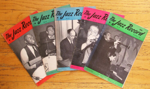 THE JAZZ RECORD ~ EARLY JAZZ MAGAZINE ~ (5 ISSUES) - 1945-1946