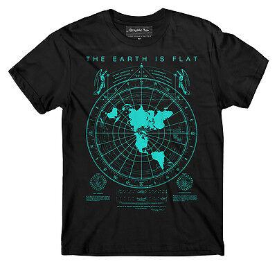 Flat Earth Map T Shirt  Earth Is Flat  Firmament  Nasa Lies  New World Order