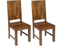 6x Sheesham wooden dining chairs for £100!