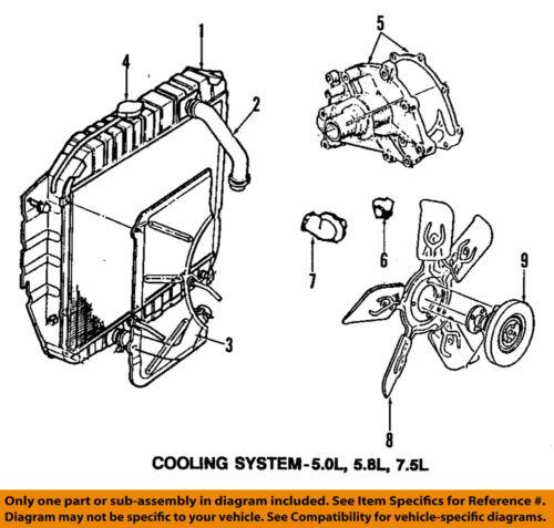 ford oem 94-95 e-350 econoline club wagon-engine water pump f4tz8501b