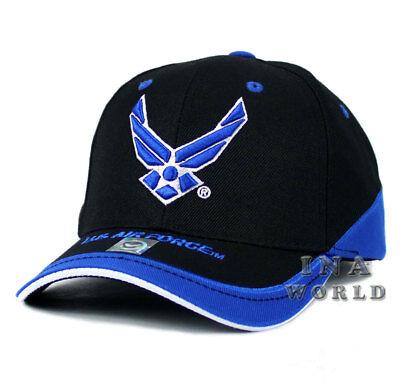 U.S. AIR FORCE hat USAF Logo Military Baseball cap Official Licensed- Black/Blue
