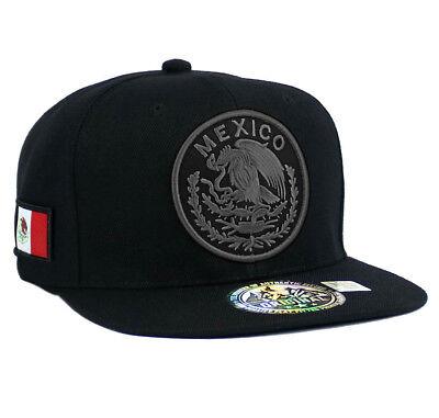 MEXICAN hat Snapback MEXICO Federal Logo Embroidered Baseball cap- Black/Gray