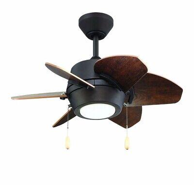 Litex-GA24EB6L-Gaskin - 24 Ceiling Fan with Light Kit  Bronze Finish with