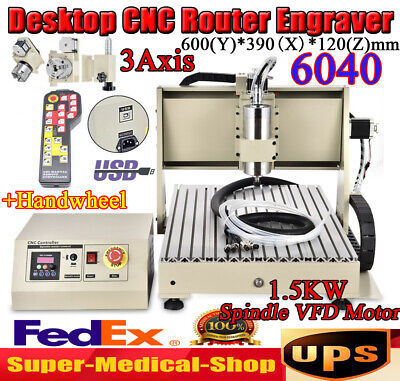 Usb 3axis Cnc 6040 Router Engraver Drillmilling Engraving Machinecoolerremote