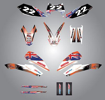 Full  Custom Graphic  Kit -AUSSIE PRIDE - KTM LC4 SMC 690 / 2008 - 2011