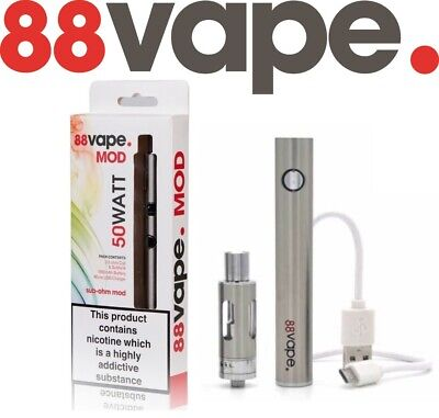 88 Vape 50W Vaping Pen Sub Juice Ohm MOD E-Cigarette Starter Kit 1600mAh Battery