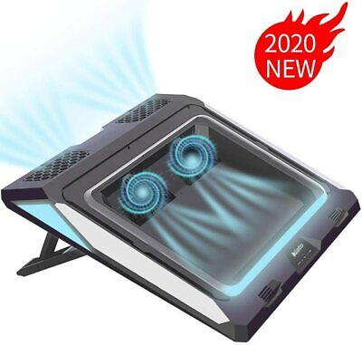 Best Double Blower Laptop Cooling Pad w Dust Filter for 14-17 Inch Gaming Laptop