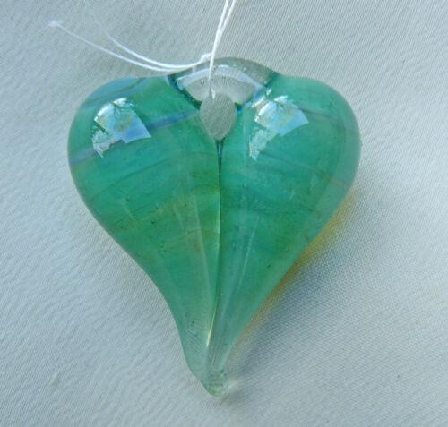Glass Lampwork Heart Pendant or Focal Bead Artisan Handmade Beautiful Quality