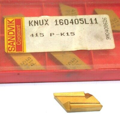 Lot Of 6 New Sandvik Indexable Turning Carbide Inserts Knux 160405l11 415