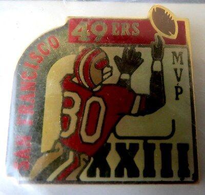 Unocal 76 San Francisco 49Ers Jerry Rice Super Bowl Xxiii Mvp Metal Pin