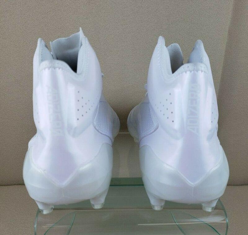 fb9967f7d ... ADIDAS ADIZERO 5-Star 6.0 Mid Football Cleats White BW1091 Men s Size  16 ...