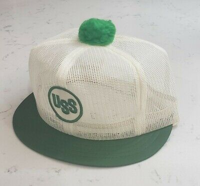 Vintage USS Snapback Pom Hat Mesh Cap Louisville Made in the USA